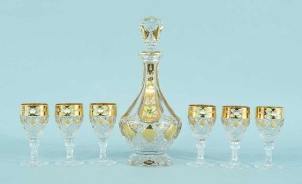 1: AURUM CRYSTAL DECANTER & GLASSES