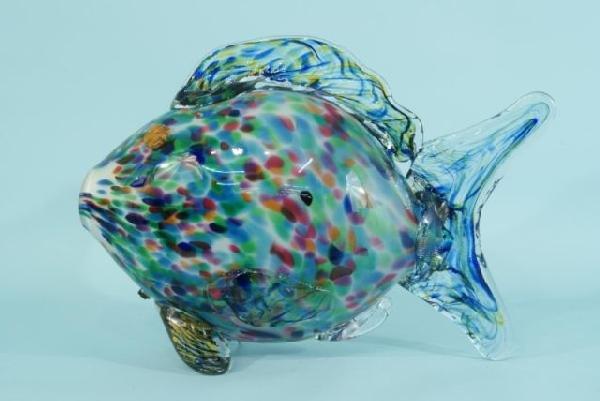3: LARGE ART GLASS FISH
