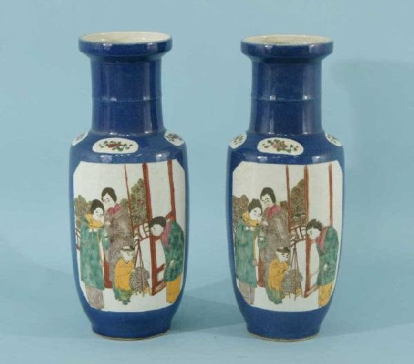 19: PAIR OF CHINESE PORCELAIN VASES