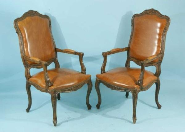 23: PAIR OF FRENCH STYLE ARMCHAIRS