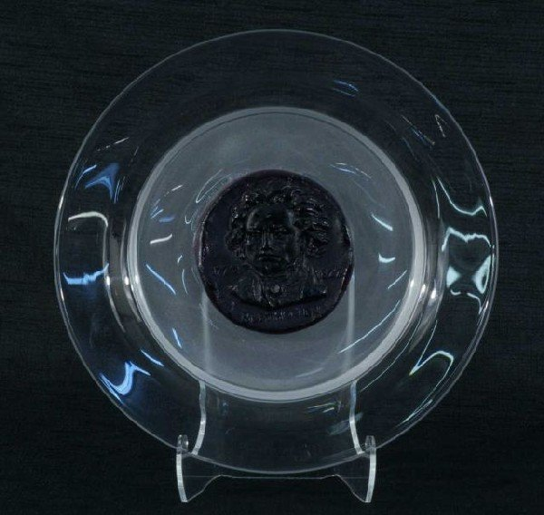 "1: DAUM CRYSTAL ""BEETHOVEN"" CHARGER, 1980, #88/2000"