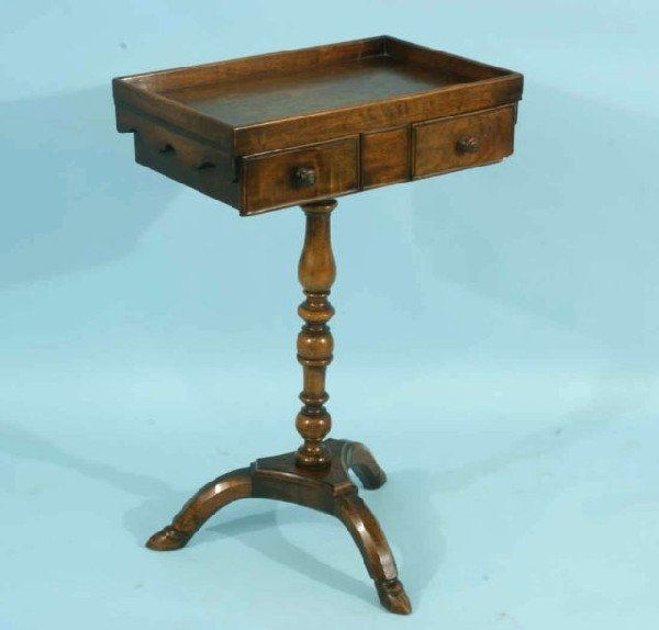 16: ANTIQUE FRENCH MAHOGANY WORK TABLE