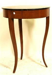 CIRCA 1830 BIEDERMEIER MAHOGANY OCCASIONAL TABLE