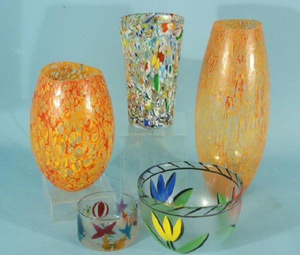 2: FIVE KOSTA BODA ART GLASS PIECES