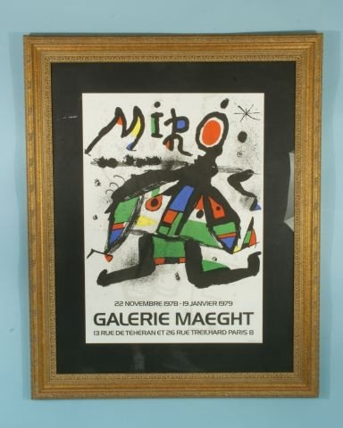 """47: JOAN MIRO POSTER """"GALERIE MAEGHT"""" NOT STAMPED"""