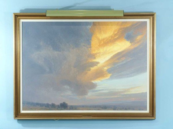 """74: CURT WALTERS """"A TEXAS SUNSET"""" PAINTING"""