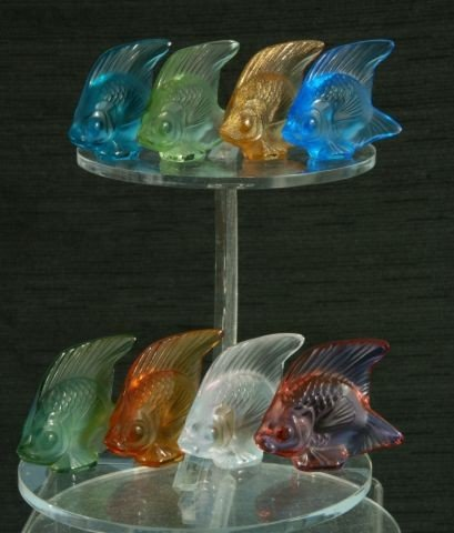 251: LOT OF EIGHT LALIQUE CRYSTAL FISH