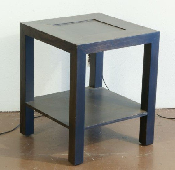 3: WOODEN END TABLE