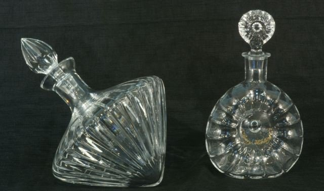 3: TWO CUT CRYSTAL DECANTERS