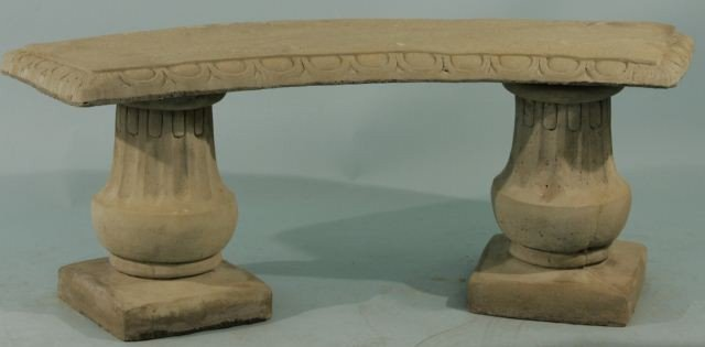 17: CONCRETE BENCH WITH TWO COLUMN PEDESTALS