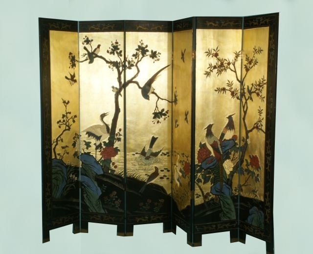 51: SIX-PANEL CHINESE COROMANDEL SCREEN