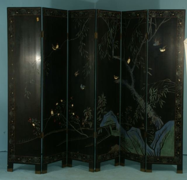 51: SIX-PANEL CHINESE COROMANDEL SCREEN - 4