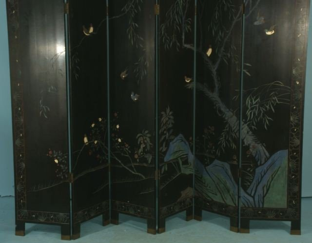 51: SIX-PANEL CHINESE COROMANDEL SCREEN - 5
