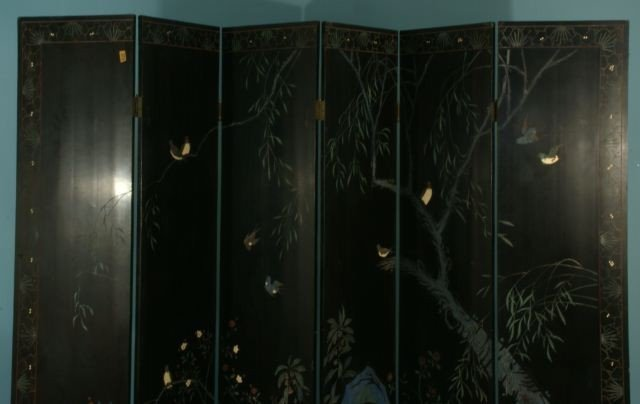 51: SIX-PANEL CHINESE COROMANDEL SCREEN - 6