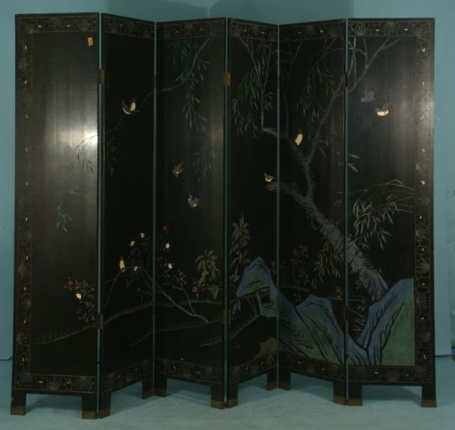 51: SIX-PANEL CHINESE COROMANDEL SCREEN - 7