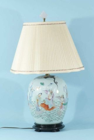 6: CHINESE VASE CONVERTED TO A LAMP