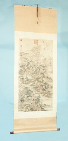 15: VINTAGE CHINESE SCROLL OF A MOUNTAIN LANDSCAPE