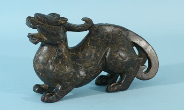 18: CARVED SOAPSTONE DRAGON