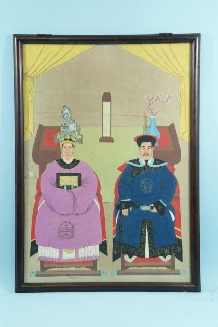 19: ANTIQUE CHINESE ANCESTORY PAINTING