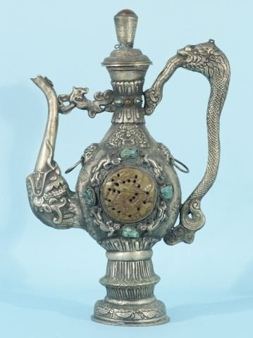 22: ANTIQUE CHINESE  WINE PITCHER