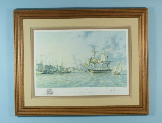 14: FRAMED AND MATTED PRINT ALEXANDRIA, SHIP FAIRFAX
