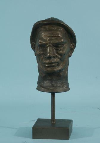 16A: IRON SCULTPURE OF A MAN'S HEAD