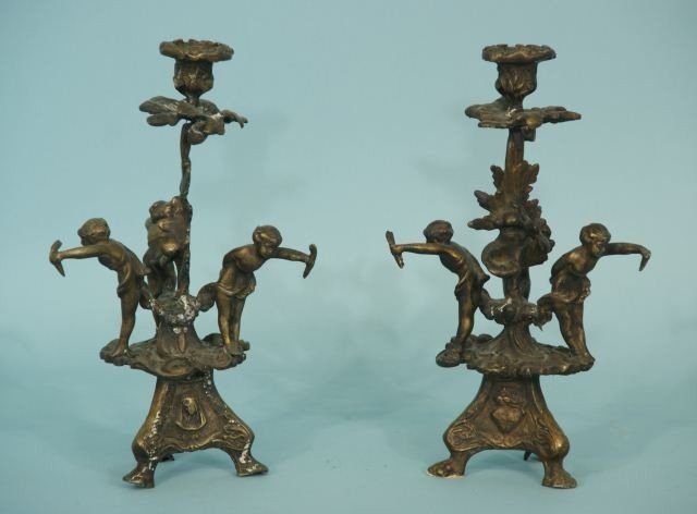 23: PAIR OF CANDLESTICK HOLDERS