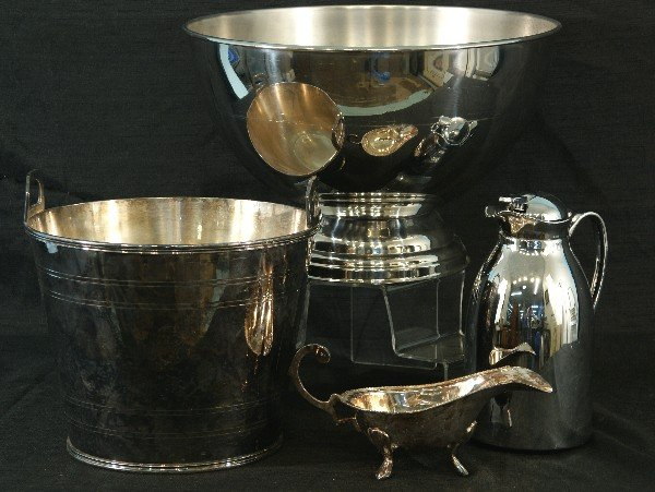 5: LOT OF FOUR ASSORTED SILVER ITEMS