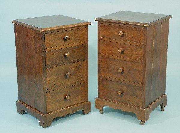 15: TWO MAHOGANY ARTS & CRAFTS STYLE NIGHTSTANDS