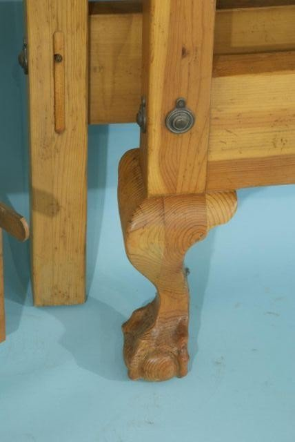 33B: QUEEN SIZE PINE FOUR POSTER BED - 5