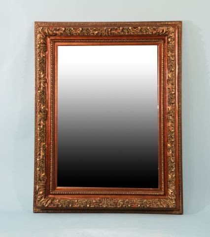 5: FRAMED CARVED RESIN FRAME MIRROR