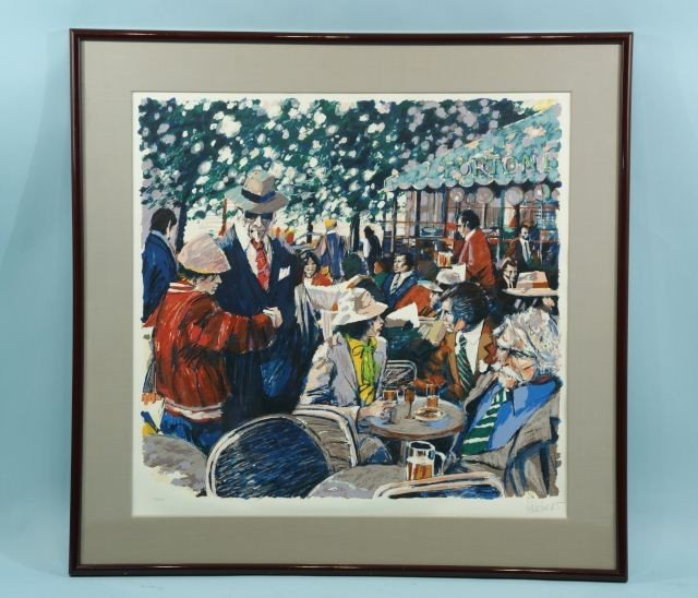 "11: ALATOWON ""FRENCH RESTAURANT PATIO"" LITHO #267/275"