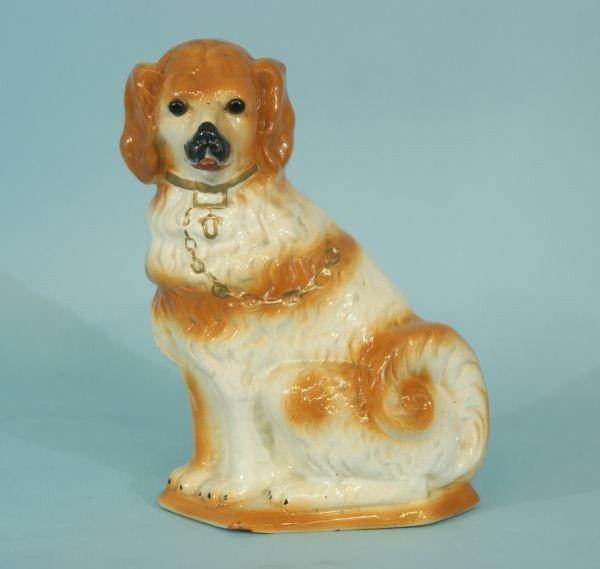 6: ANTIQUE STAFFORDSHIRE PORCELAIN DOG