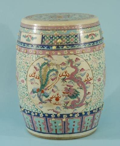 18: 19th CENTURY CHINESE PORCELAIN GARDEN STOOL