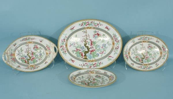 7: FOUR-PIECE OVAL WEDGEWOOD PLATTERS