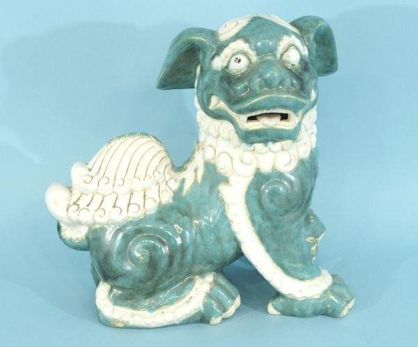 6: VINTAGE CHINESE STONEWARE FOO DOG