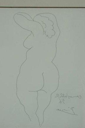 """30F: PABLO PICASSO """"FEMME NU DE DOS"""" ETCHING, 1956 - 3"""