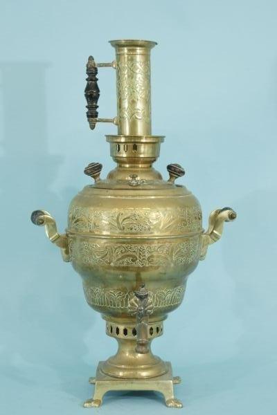 119: ANTIQUE BRASS TURKISH COFFEE POT URN, CIRCA 1880