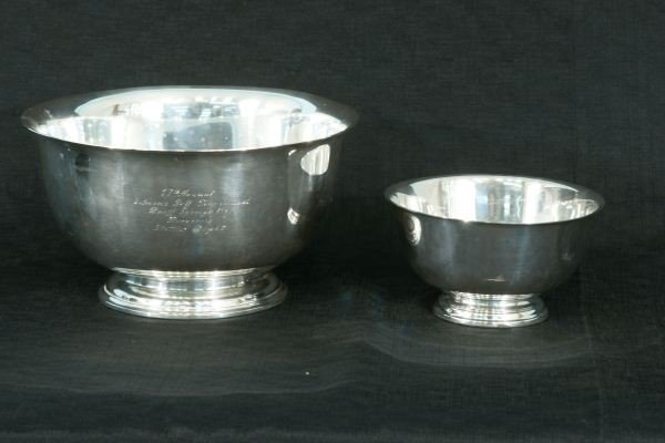7: TWO STERLING SILVER BOWLS