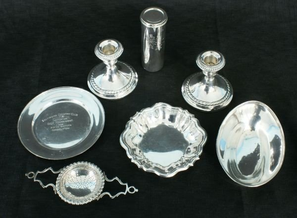 10: LOT OF SEVEN STERLING SILVER SERVING PIECES