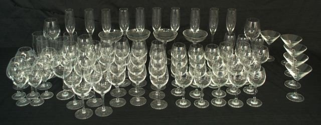 20: LOT OF 84-PIECES OF CRYSTAL STEMWARE