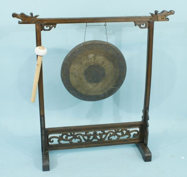 47: ANTIQUE CHINESE GONG, CIRCA 1880