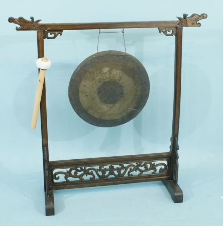 47: ANTIQUE CHINESE GONG, CIRCA 1880 - 2