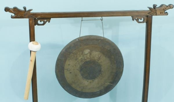 47: ANTIQUE CHINESE GONG, CIRCA 1880 - 3