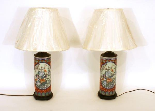 14: PAIR OF ORIENTAL LAMPS