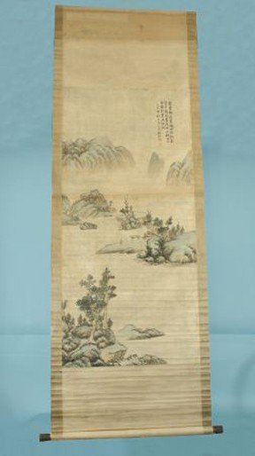 16: HAND PAINTED CHINESE SCROLL