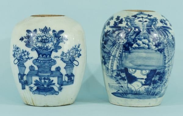 20: TWO ANTIQUE CHINESE PORCELAIN JARS