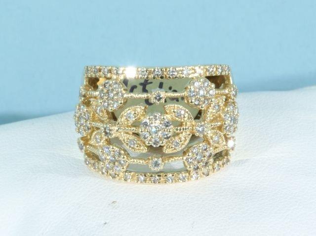 20C: 1.00 DIAMONDS 14KT GOLD RING