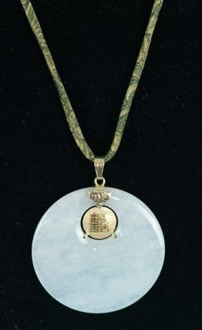 20D: JADE AND GOLD PENDANT