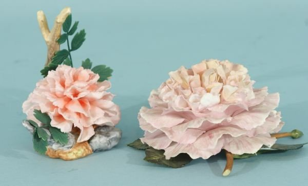 25A: LOT OF TWO BOEHM CARNATIONS